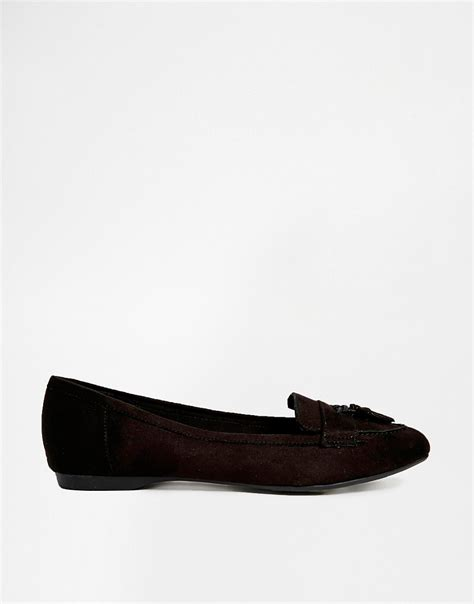 black flat shoes new look new look wide fit new look wide fit black joist moccasin