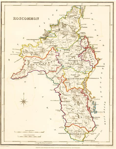 Ireland Birth Records 1800s Ireland Map Roscommon