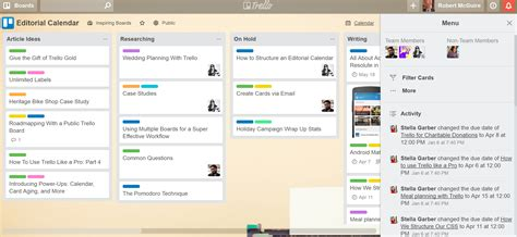 Online Marketing Tools For Nonprofits A Toolbox To Launch Your Content Plan Trello Editorial Calendar Template
