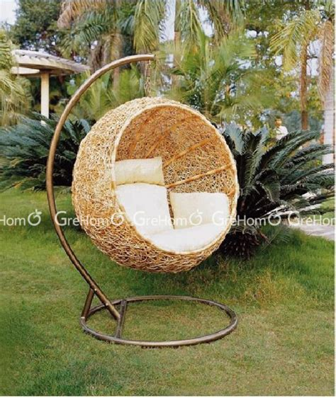 Luxury Cane Chair Garden Swing With Stand Buy Chair