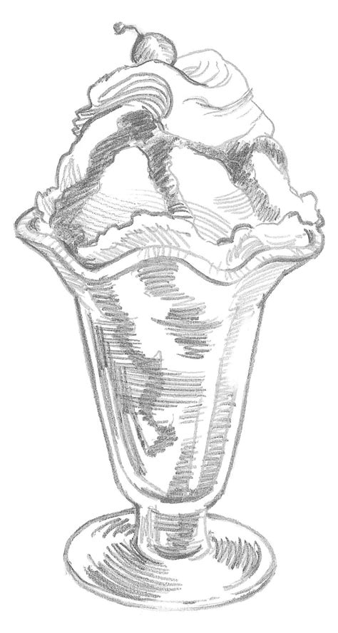 zbrush sketchbook ice cream sundae by evanstanley on ice cream sundae 183 extract from 50 things to draw by ed
