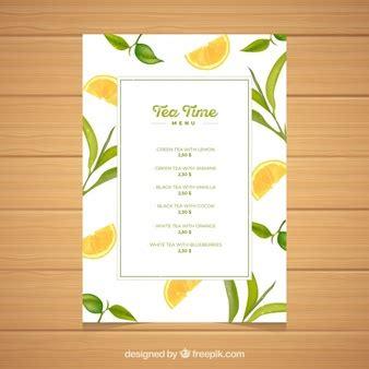 tea menu template sketchy menu template vector free