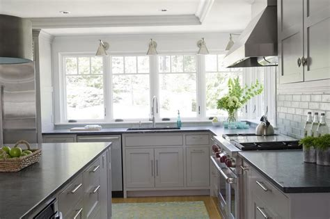 Light Grey Kitchen Cabinets With Black Counters light grey kitchen cabinets with black countertops home