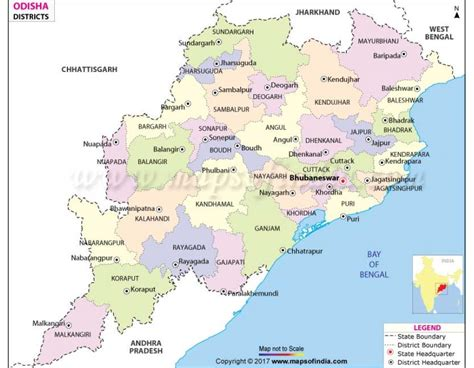 district map of buy odisha district map