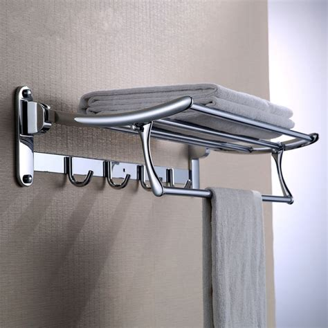 High Quality 304 Stainless Steel Bath Towel Holder Chrome Bathroom Shelves For Towels