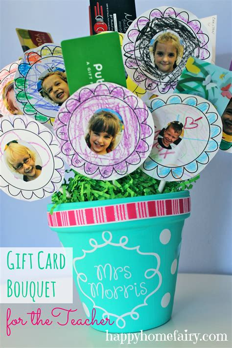 Gift Card Amount For Teachers - gift card bouquet for the teacher happy home fairy