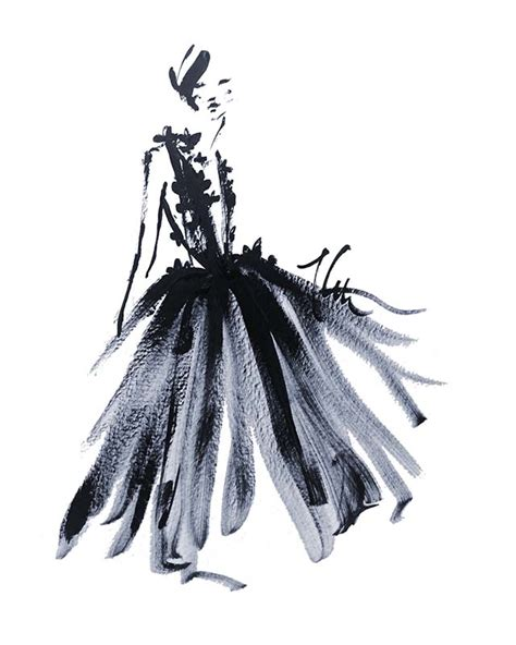 fashion illustration on black paper kathryn rodgers archives paper fashion