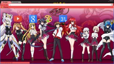 psp themes highschool dxd highschool dxd born chrome themes themebeta