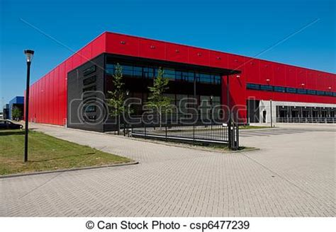 How To Choose Exterior House Colors stock photographs of industrial warehouse modern red