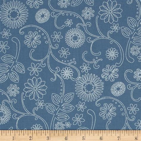 Wide Back Quilt Fabric by 110 Quot Wide Quilt Back Signature Cornflower Discount Designer Fabric Fabric