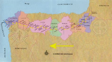 camino way map camino map camino de santiago the way of st st