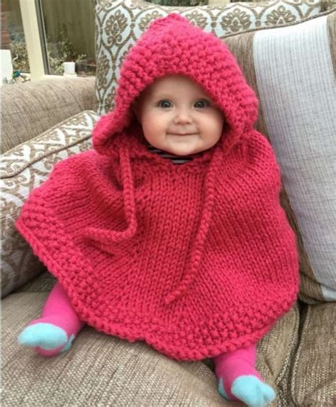 free knitting patterns poncho child knitted hooded baby poncho pattern free the whoot