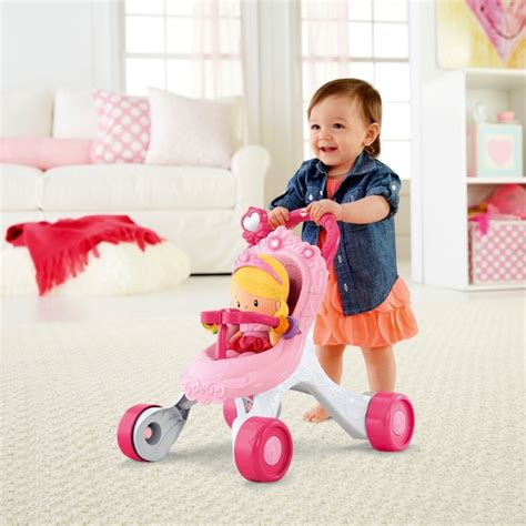 Murah Fisher Price Toys Baby Walker Musical fisher price princess stroll along musical walker and doll
