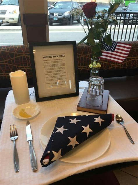 fallen comrade table missing table also known as the fallen comrade table is a place of honor national guard