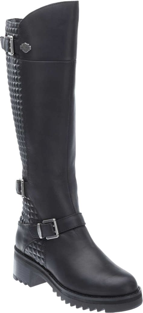 womens biker boot knee high motorcycle boots womens with lastest image in