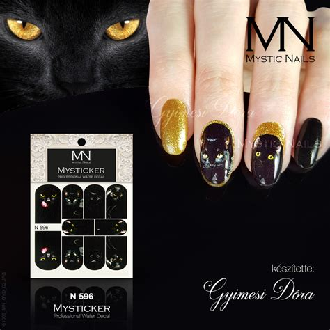 Cat Nail Sticker nail nail sticker cat sticker gel cat eye
