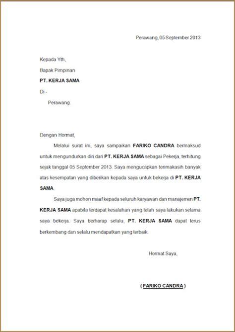 format surat pengunduran diri kerja contoh surat pengunduran diri dari kerja kijimuna thakeru
