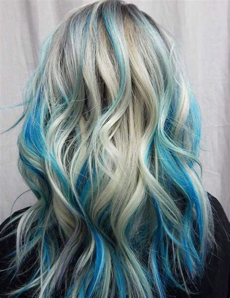 black hair with colored highlights best 25 blue hair highlights ideas on