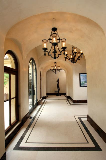 Gray Bathroom Designs focus on the floor mediterranean hall orange county