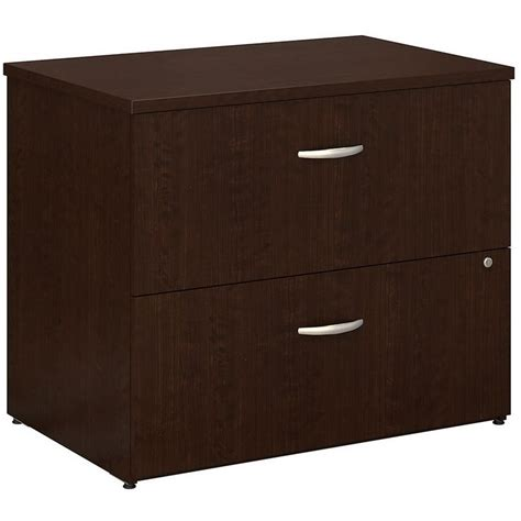 office desk delivered assembled bush lateral file assembled in mocha cherry wc12954csu