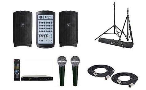 exle system 3 economy karaoke system with fender
