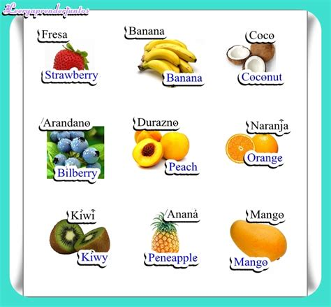 imagenes en ingles frutas frutas en ingl 233 s imagenes imagui