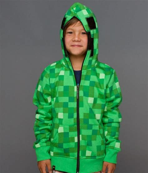 Vest Zipper Vest Rompi Minecraft Creeper minecraft creeper premium zip up youth hoodie small the gamesmen