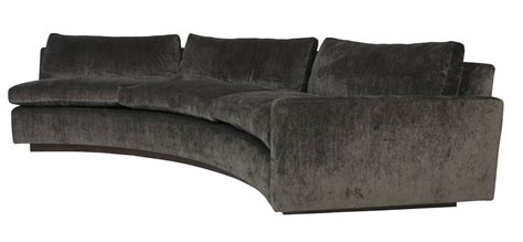 large half circle sectional sofa by milo baughman for