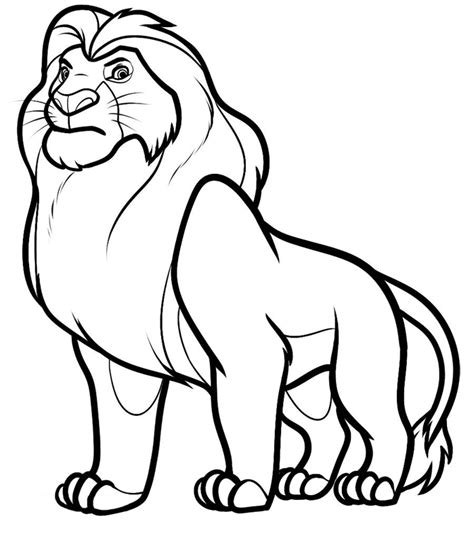 simple lion coloring page free printable lion coloring pages for kids