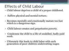 Child Labor Essay Causes And Effects by Effects Of Child Labour Images