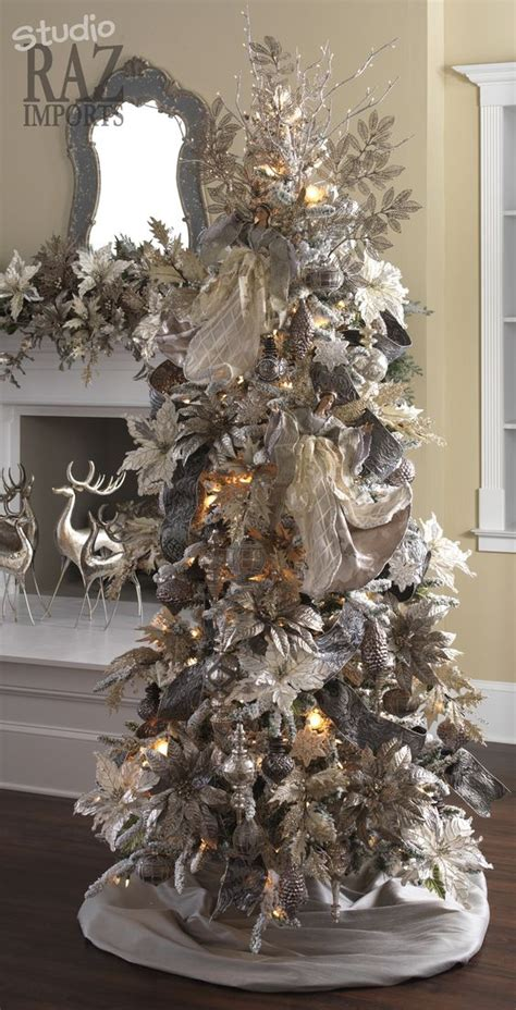 21 silver christmas tree d 233 cor ideas digsdigs