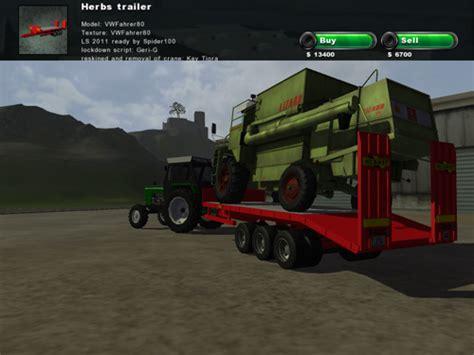 herbs transport trailer simulator games mods