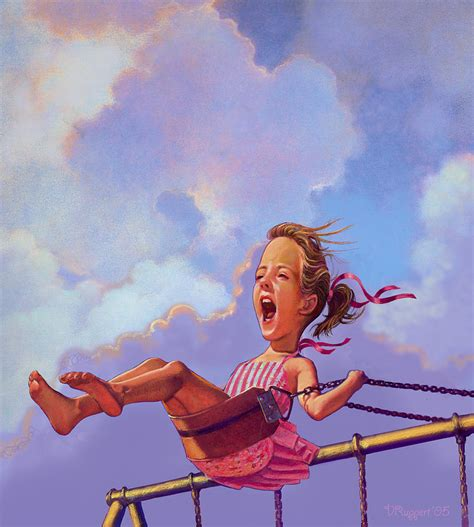 girl on the swing girl on a swing pastel by valer ian