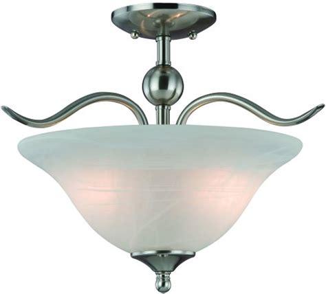 Home Hardware Light Fixtures Hardware House H10 4289 Dover Semi Flush Mount Ceiling Light Satin Nickel Home Garden Lighting