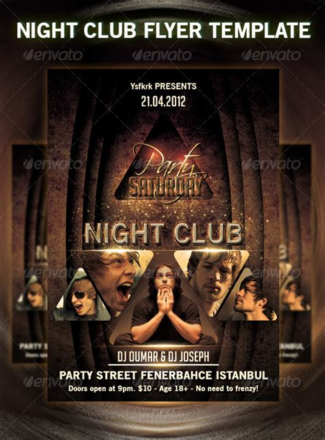 club flyer design templates club flyer template graphicriver
