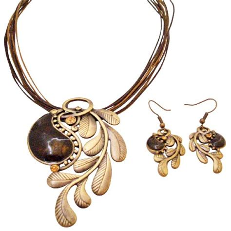 brass jewelry creative jewelry in brass w brown embedded