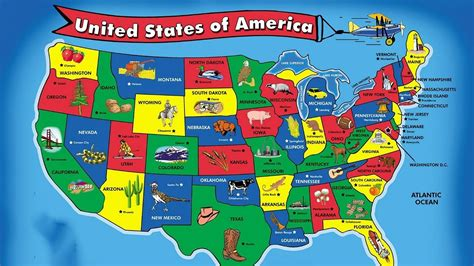 united states map and capitals united states map song