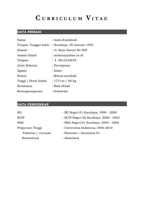 curriculum vitae format doc for contoh resume doc resume ideas