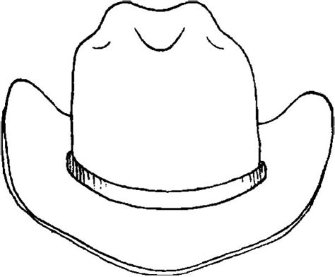 cowboy hat coloring page barriee
