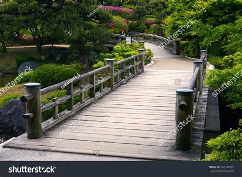 Wooden Bridge Traditional Japanese Gardenosaka Stock Photo Bridge Traditional