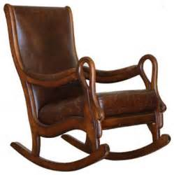 Rustic Bathroom Decor - distressed leather rocking chair traditional rocking chairs by artefac