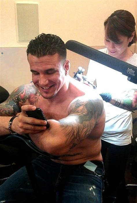 frank mir gets inked at club tattoo inside miracle mile shops