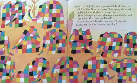 The Patchwork Elephant - elmer the patchwork elephant story 28 images