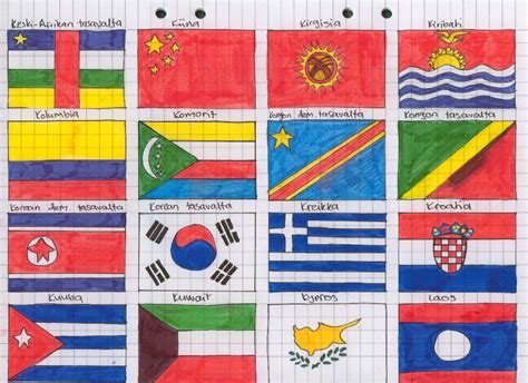 flags of the world to draw flags of the world 6 by zerawolf on deviantart