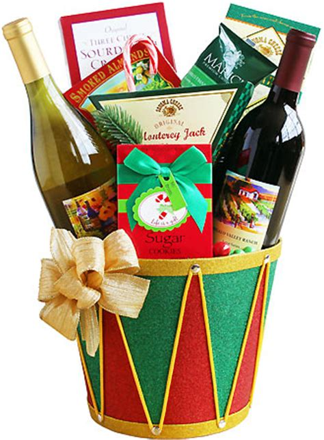 drummin for christmas wine gift basket