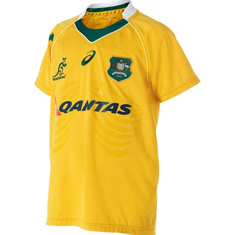 design rugby union jersey wallabies 2016 kids replica jersey size 8 pro sports