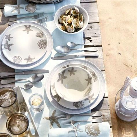 sur la dinnerware outdoor entertaining with sur la s beachy seaside