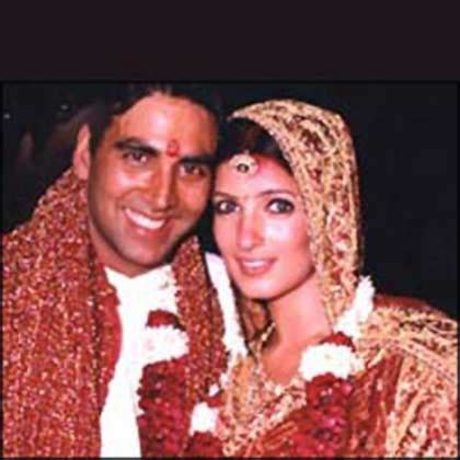 celebrity weddings: akshay kumar & twinkle khanna wedding pics