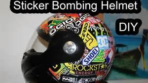 sticker bombing helmet diy youtube