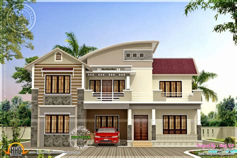 colour house design home design modern mix bhk house exterior kerala home